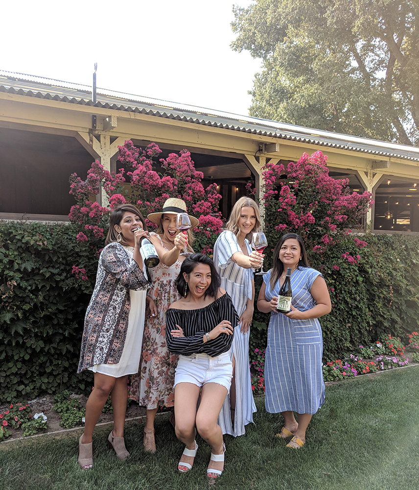The Girls posing with Silt Wine Company Dranks