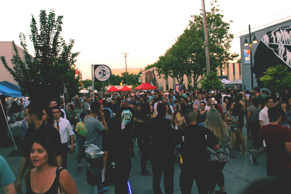 Our Street Night Market Crowds walking