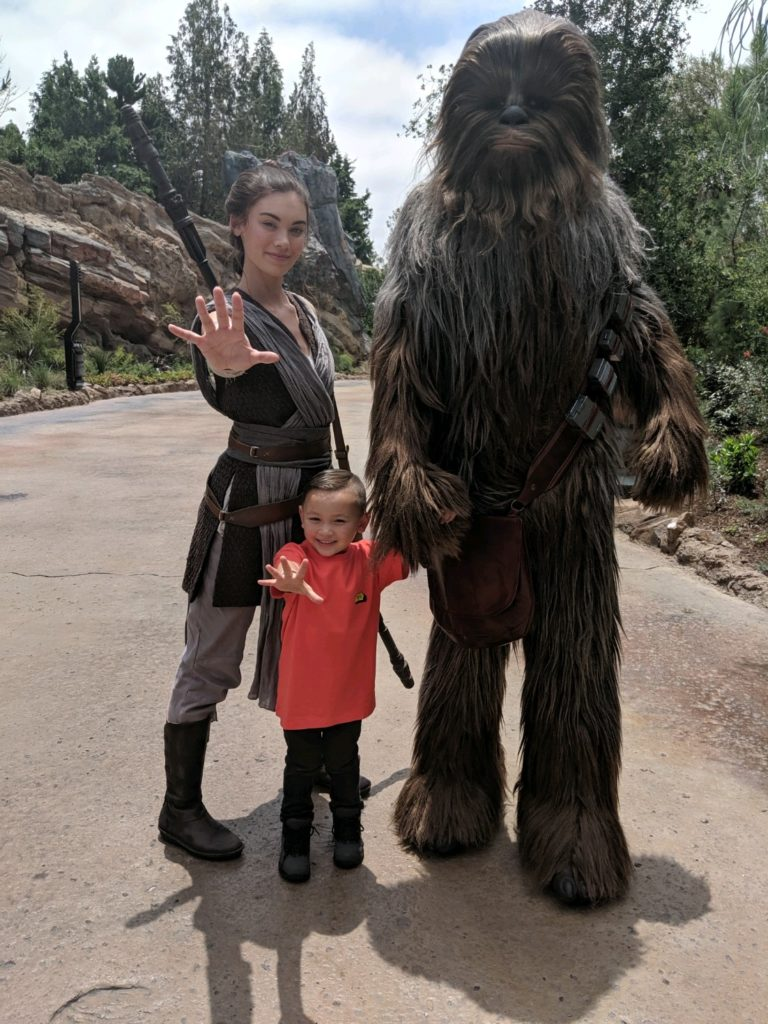 Star Wars: Galaxy's Edge - Rey, Chewbacca and a Young Padawan